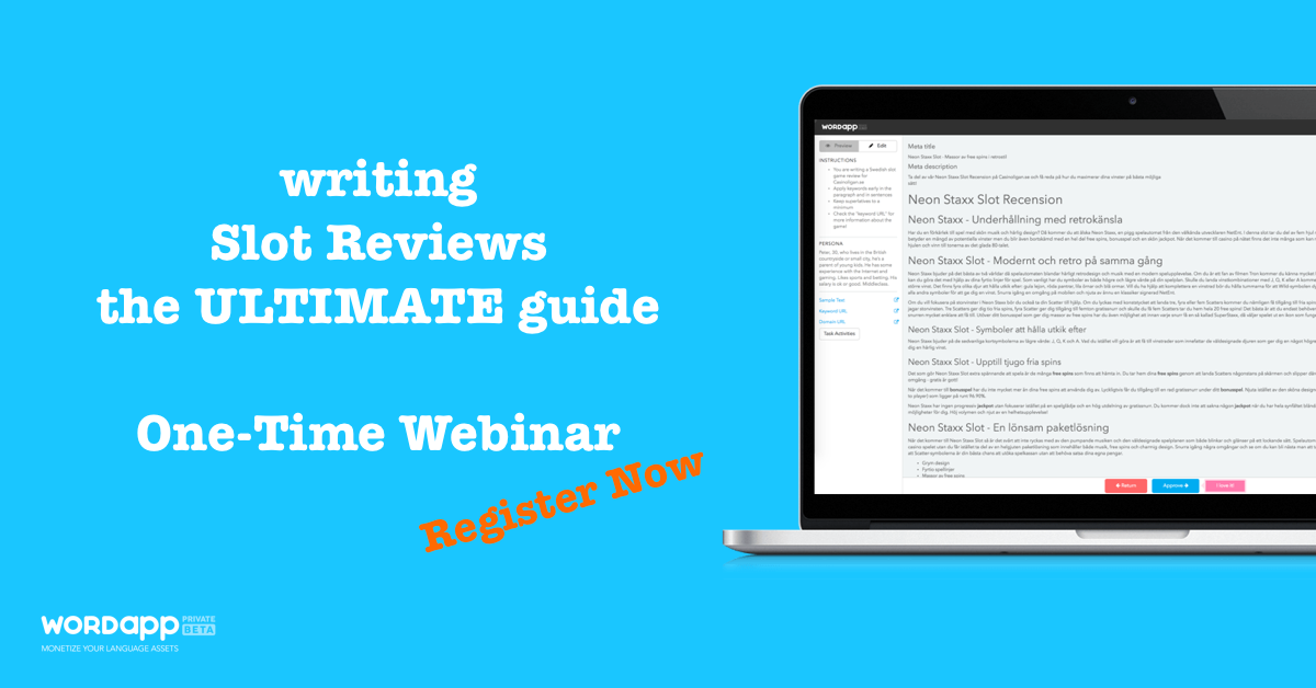 Webinar Slot Review Writing