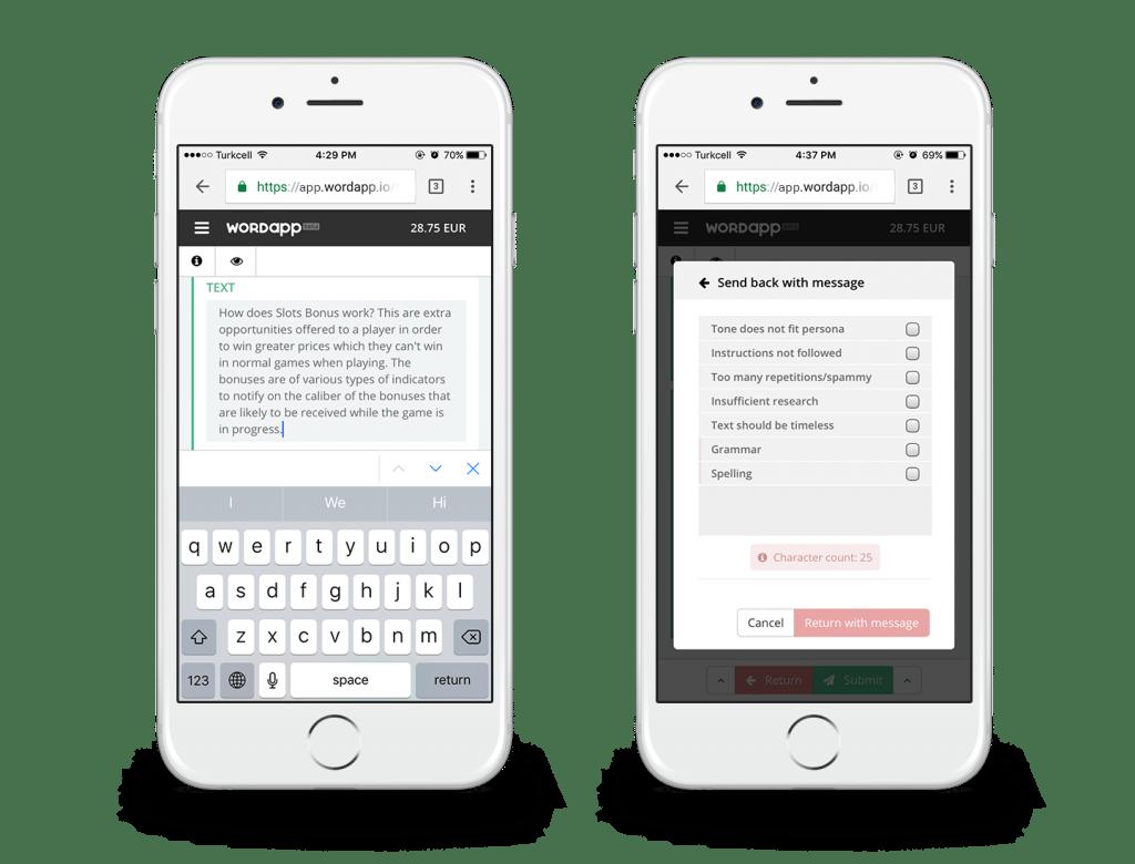 Wordapp mobile product descriptions