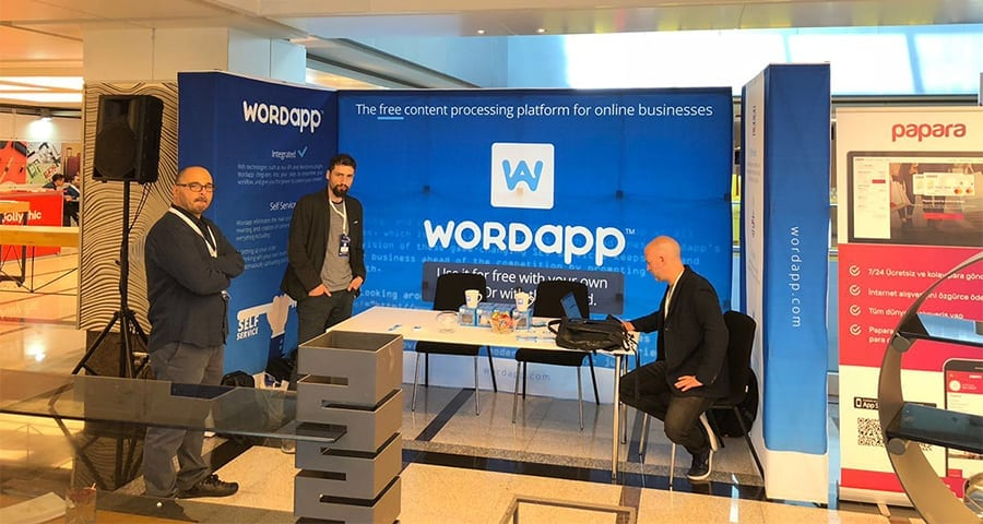 wordapp crossborder summit booth