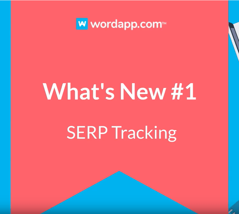 What's New #1 - SERP Tracking