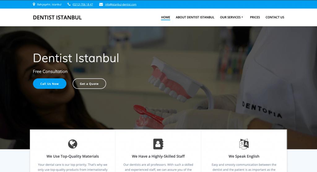 dentist site that convert leads