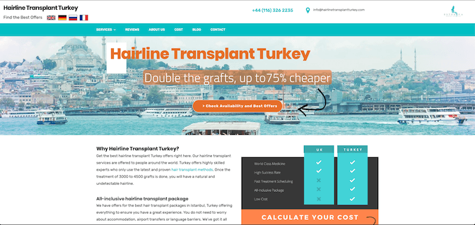 Healthcare Marketing Online with Hairline Transplant Turkey