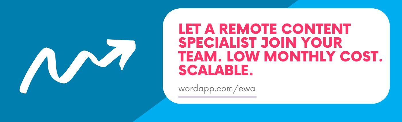 Let a remote content specialist join your team. Low monthly cost. Scalable. (1)