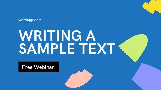 WRITING SEO-OPTIMIZED SAMPLE TEXTS